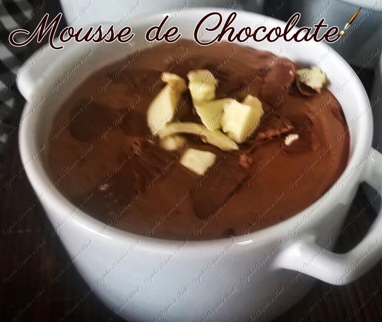 mousse de chocolate rápido e fácil