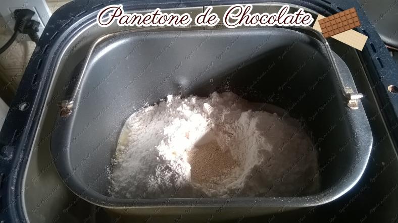 panetone de chocolate