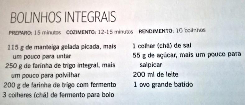 bolinhos integrais