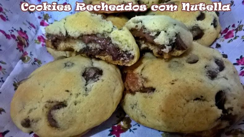 cookies recheados com nutella