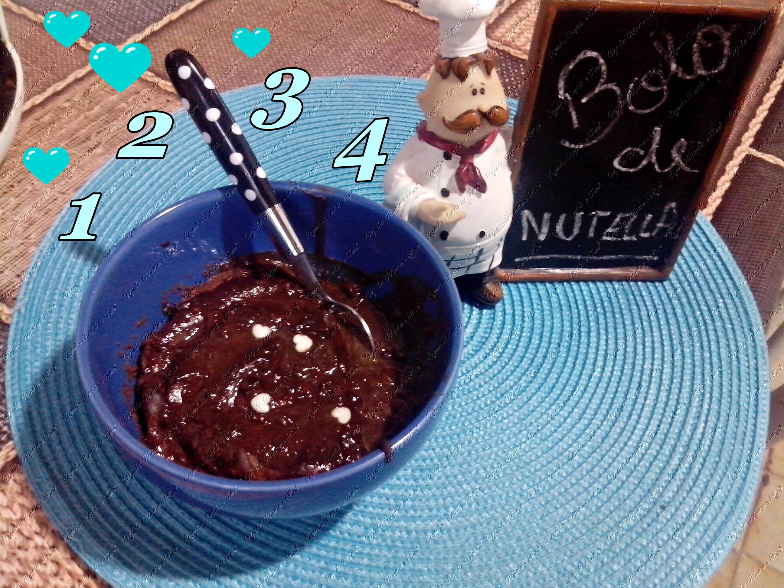 bolo de nutella 1 2 3 4