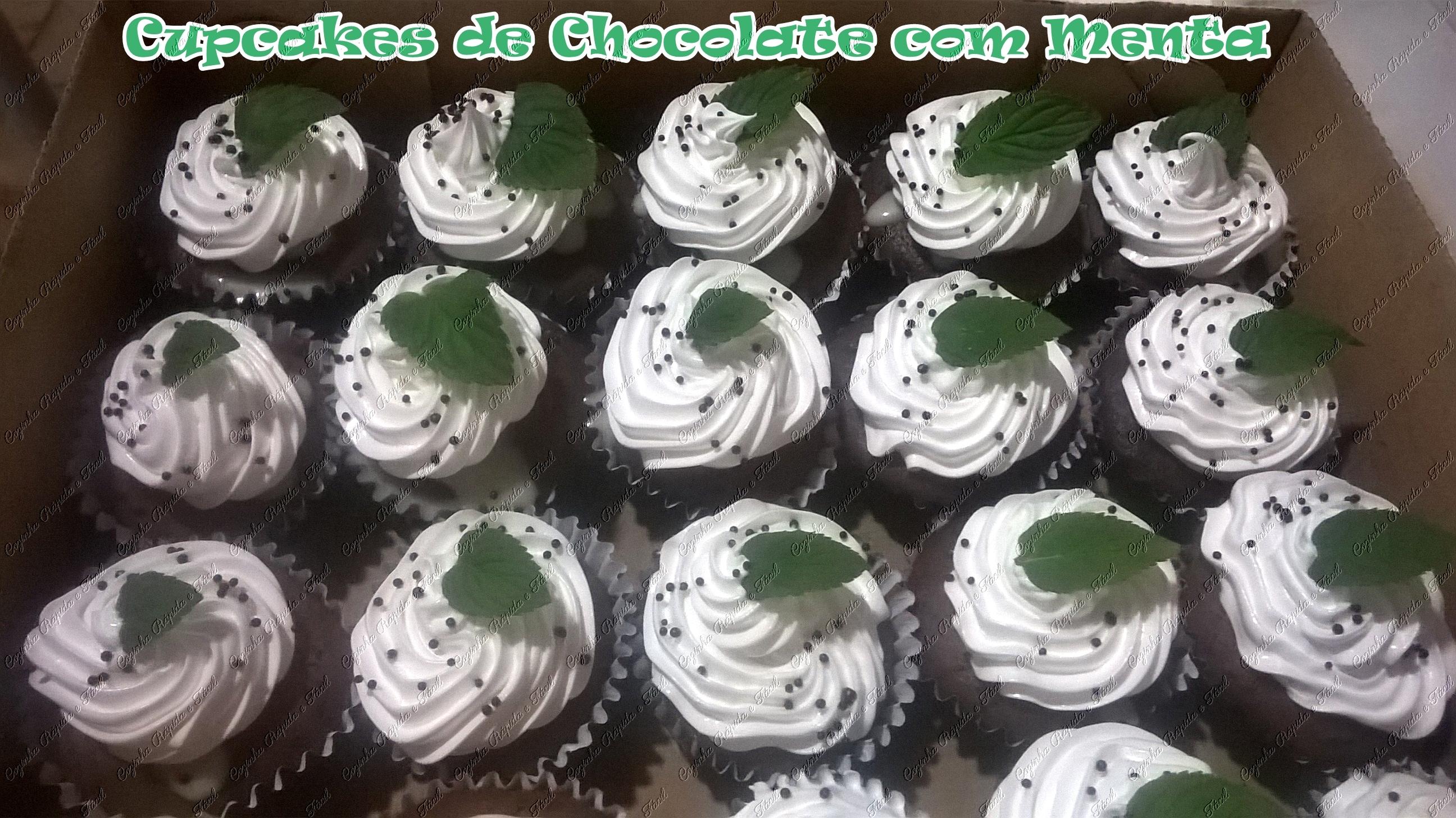 cupcake de chocolate com menta