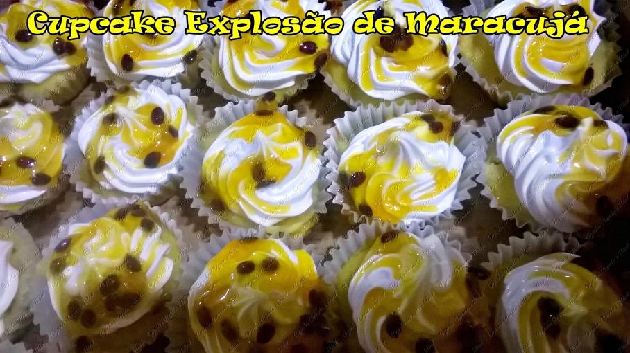 cupcake explosão de maracujá