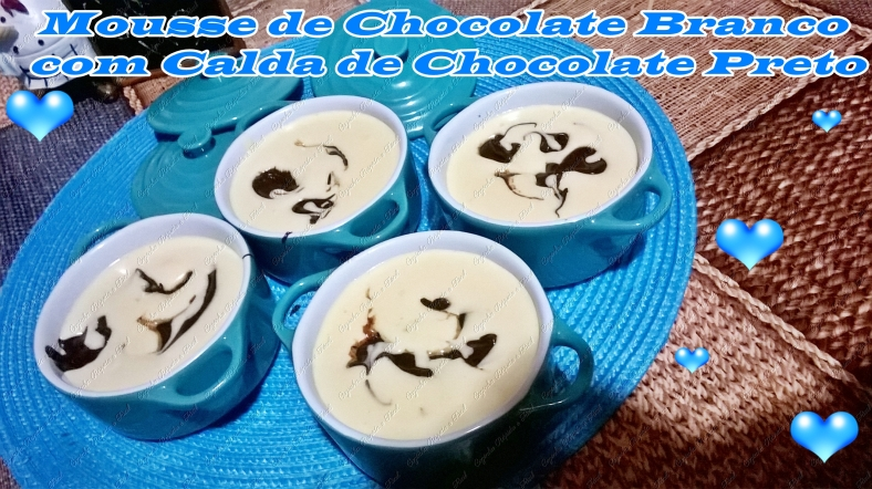 mousse de chocolate branco