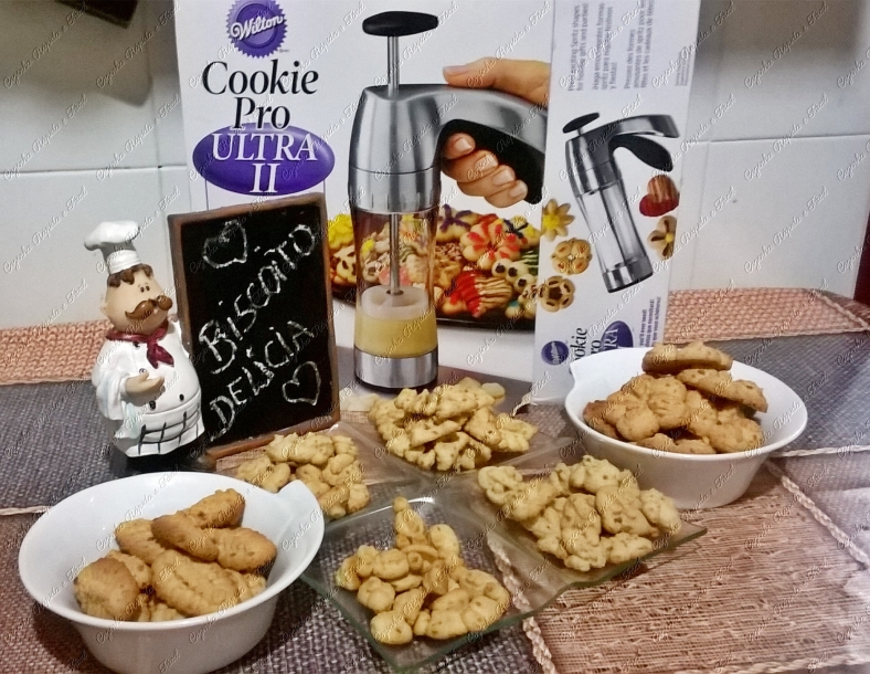 biscoitos na máquina