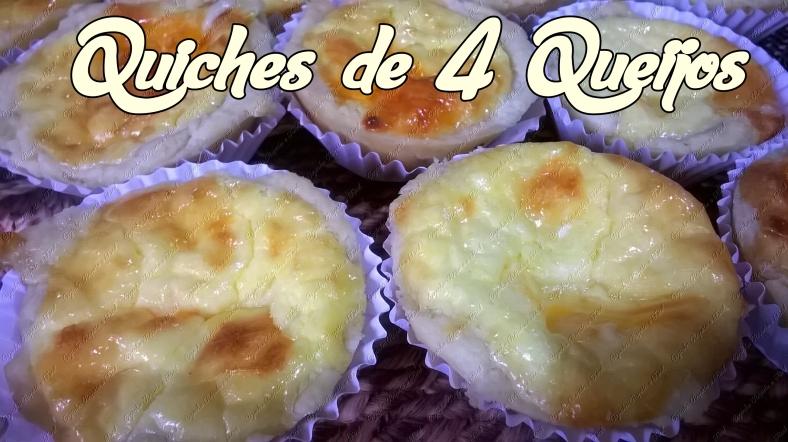 quiches de 4 queijos