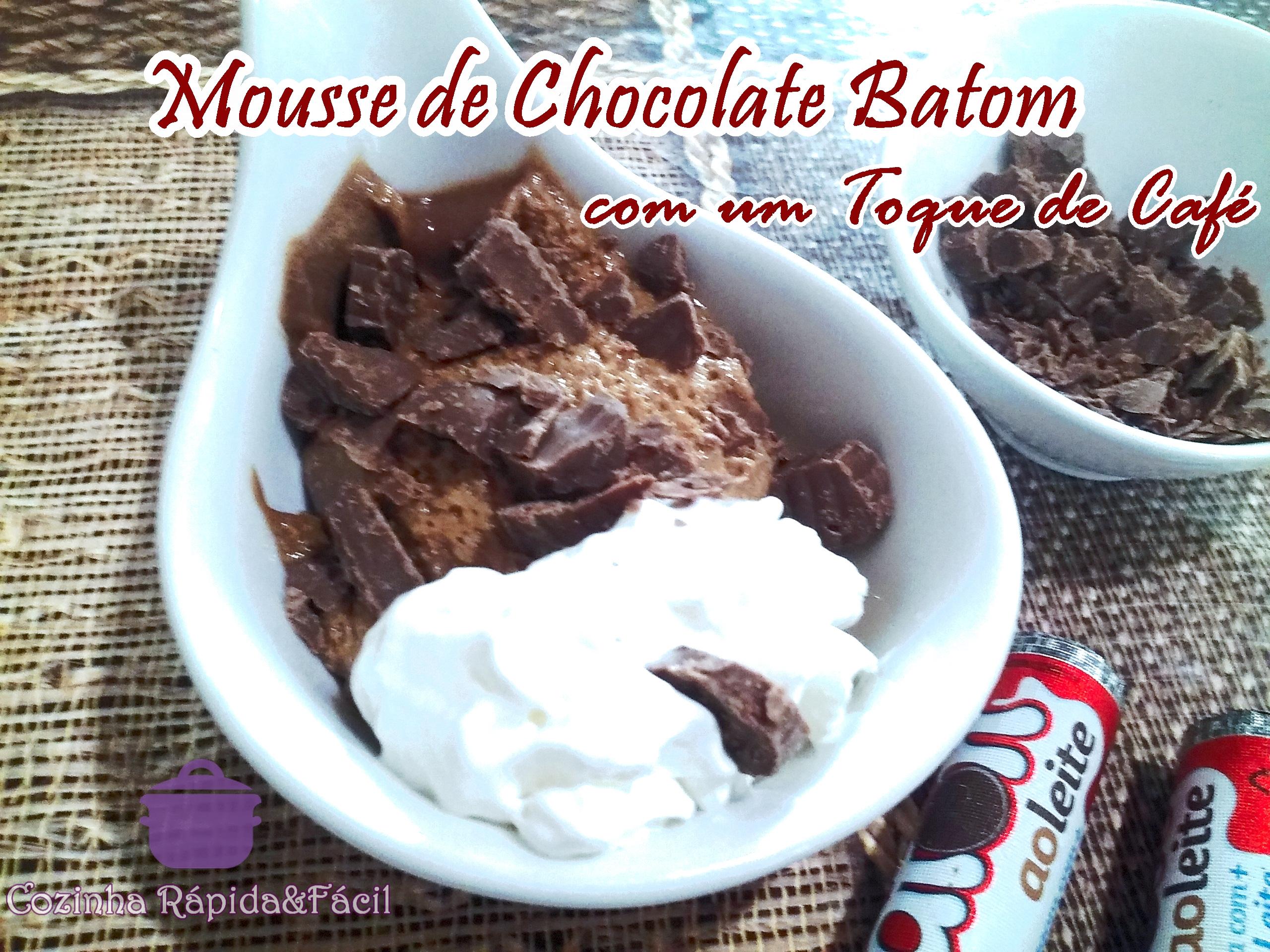 Como fazer um Mousse de Chocolate Batom com Café   !!
