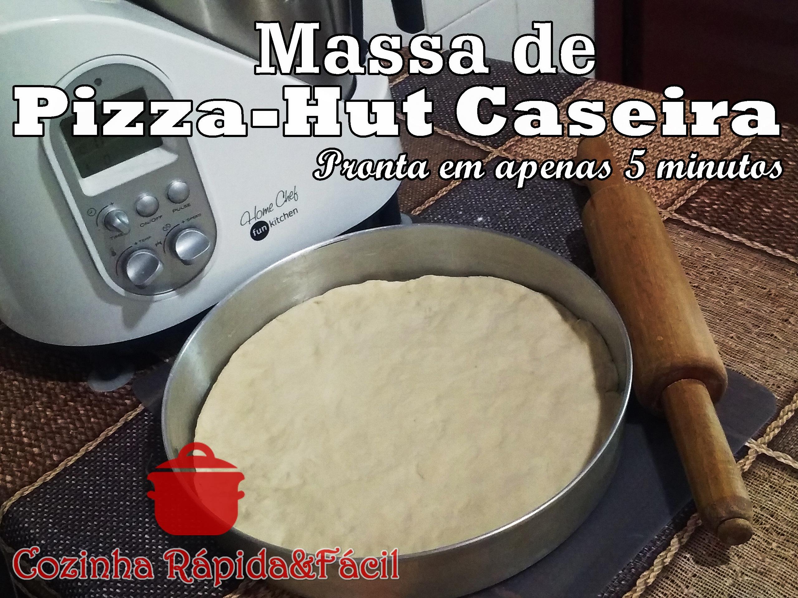 Como fazer uma Massa de Pizza Hut Perfeita na Home Chef!!